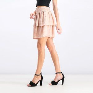 NWT - Beltaine Tiered Ruffle Skirt in Blush